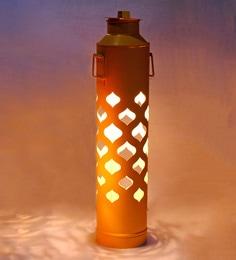 Sahil & Sarthak Yellow Iron Floor Lamps
