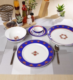 Sanjeev Kapoor Noor Collection Bone China Dinner Set - Set of 27 at pepperfry