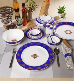 Noor Collection Bone China Dinner Set Of 48