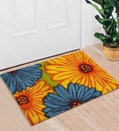 Saral Home Multicolour Coir 24 X 16 Inch Premium Quality Gerbera Door Mat