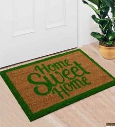 Saral Home Green Coir 24 X 16 Inch Premium Quality Heavy Duty Door Mat - 1599981
