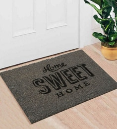Saral Home Grey Coir 24 X 16 Inch Premium Quality Home Door Mat
