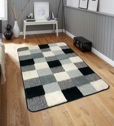 Multicolour Microfiber 52 X 32 Inch Unique Design Tufted Super Soft Heavy Duty Floor Carpet