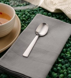 Sanjeev Kapoor Satin Tea Spoons Silver Premium Stainless Steel - Set Of 6