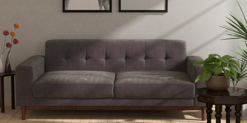 San Dimas Three Seater Sofa in Biscotti Colour by CasaCraft