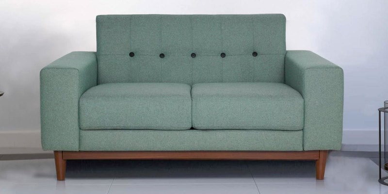 San Dimas Two Seater Sofa in Dark Olive Green Colour by CasaCraft