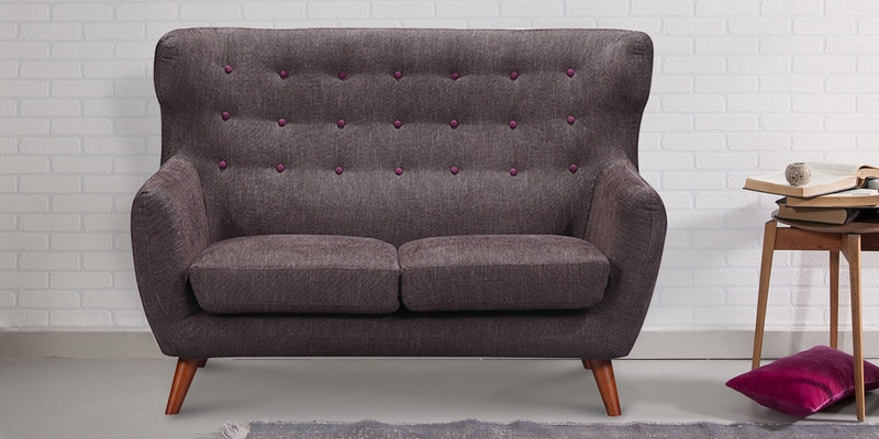 San Juan Two Seater Sofa in Cedar Brown Colour by CasaCraft