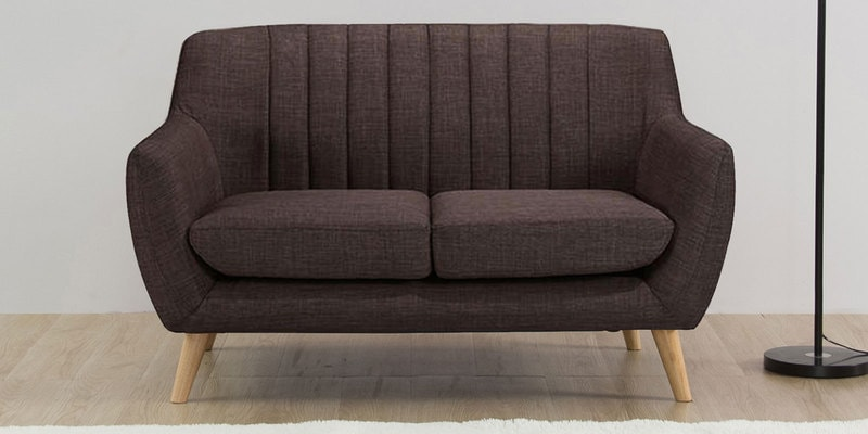 San Pio Two Seater Sofa in Chestnut Brown Colour by CasaCraft