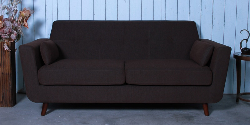 Santiago Three Seater Sofa in Chestnut Brown Colour by CasaCraft