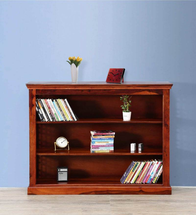 Salvaine Book Shelf in Honey Oak Finish by Amberville