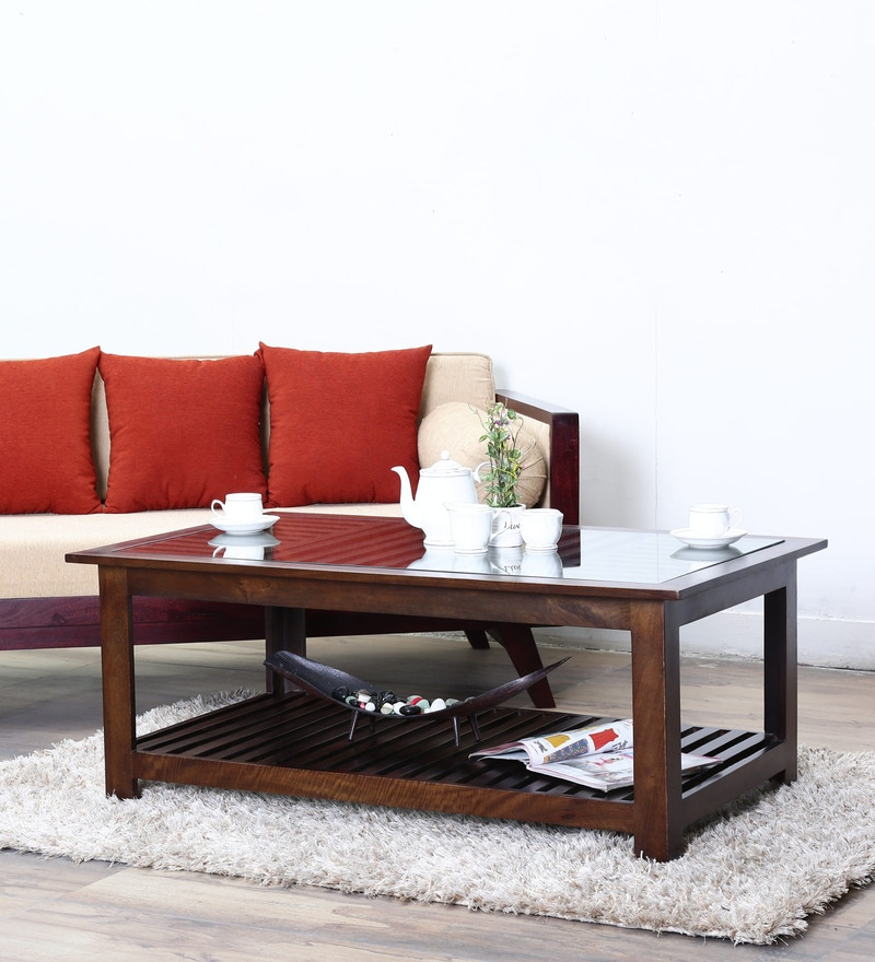 Buy Belvidere Coffee Table In Provincial Teak Finish By Woodsworth
