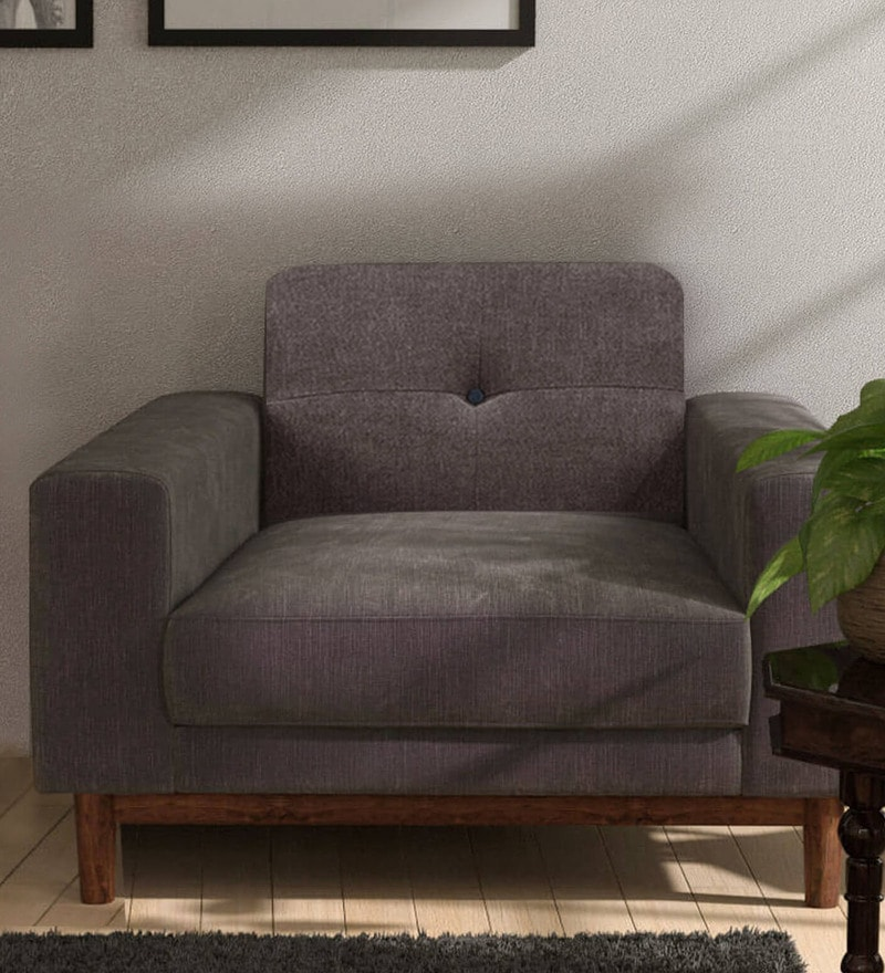San Dimas One Seater Sofa in Biscotti Colour by CasaCraft