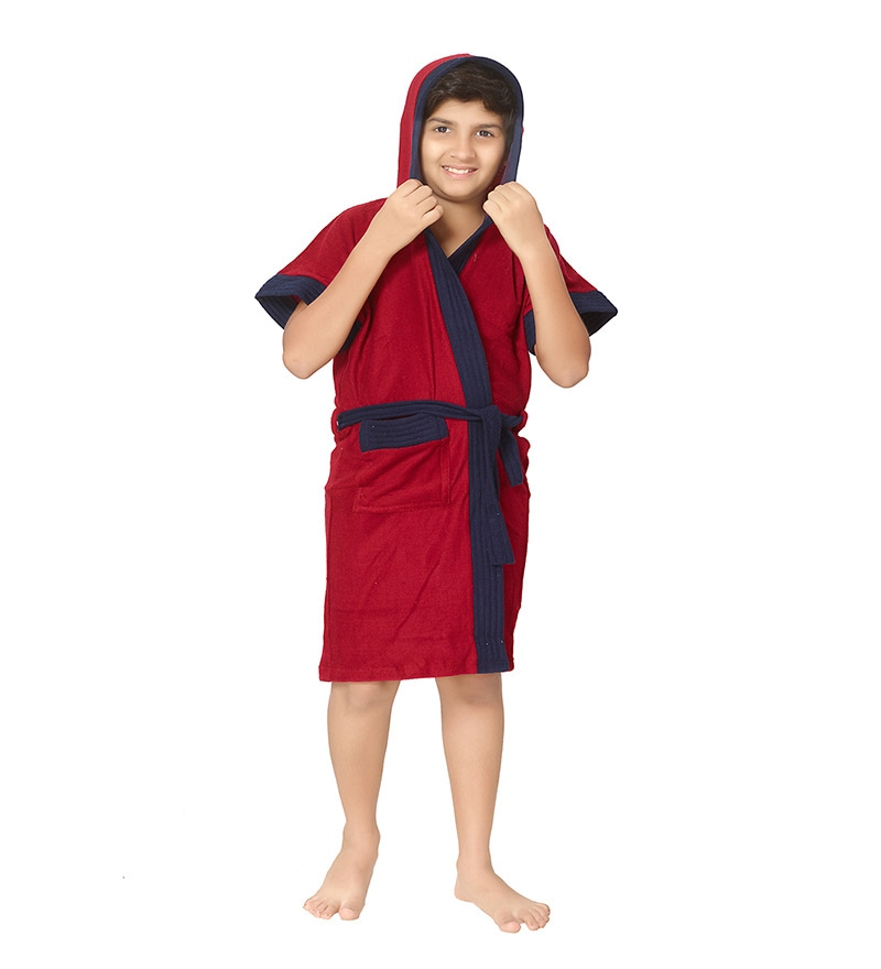 Red 10 Years Boy Bath Robe by Sand Dune