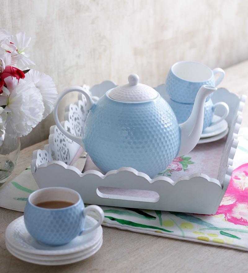 Sanjeev Kapoor's Ice Blue Tea Set