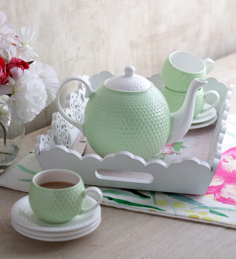 Sanjeev Kapoor's Mint Green Tea Set