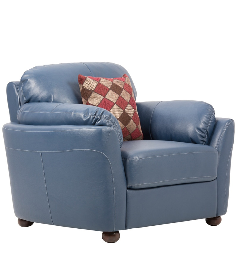 Buy Glassgow Heaven One Seater Sofa With Throw Cushions In