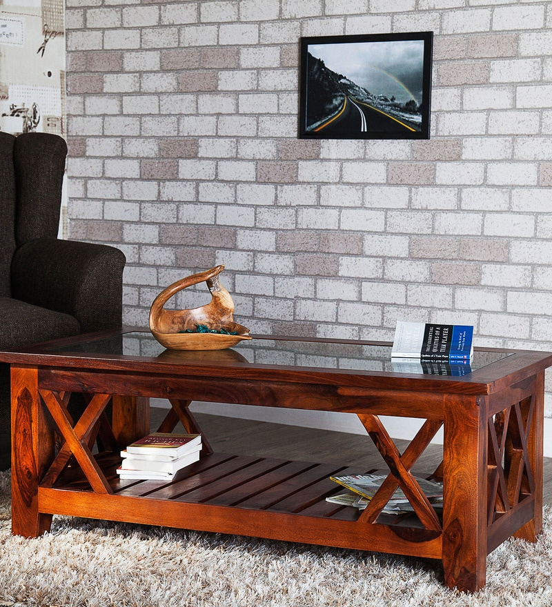 Buy Fife Coffee Table In Honey Oak Finish By Woodsworth Online Rectangle Coffee Tables