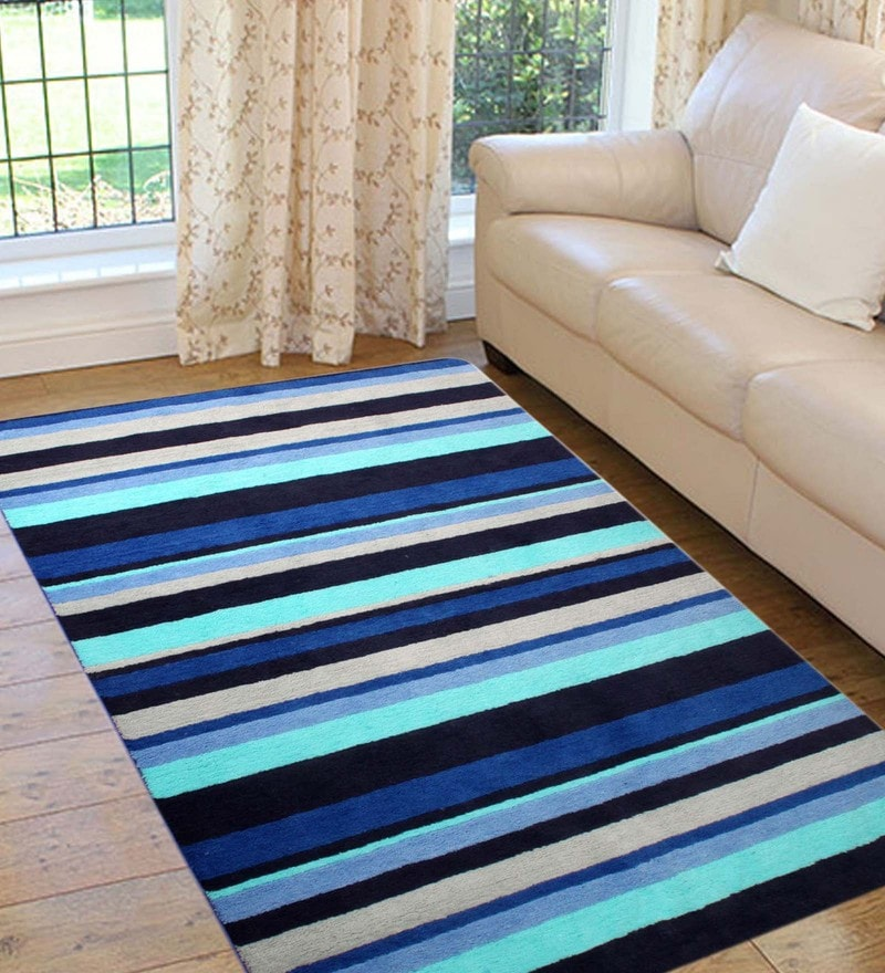 Multicolour Microfiber 72 x 48 Inch Very Soft Anti Slip Tufted Area Rug by Saral Home
