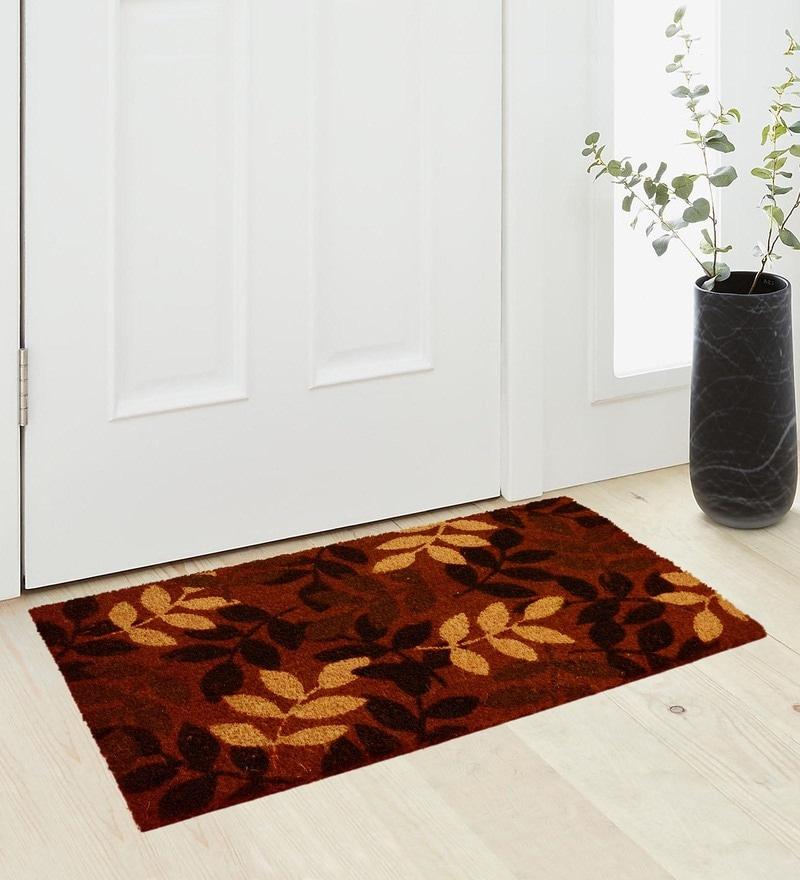Orange Coir 36 x 18 Inch Premium Quality Heavy Duty Door Mat by Saral Home
