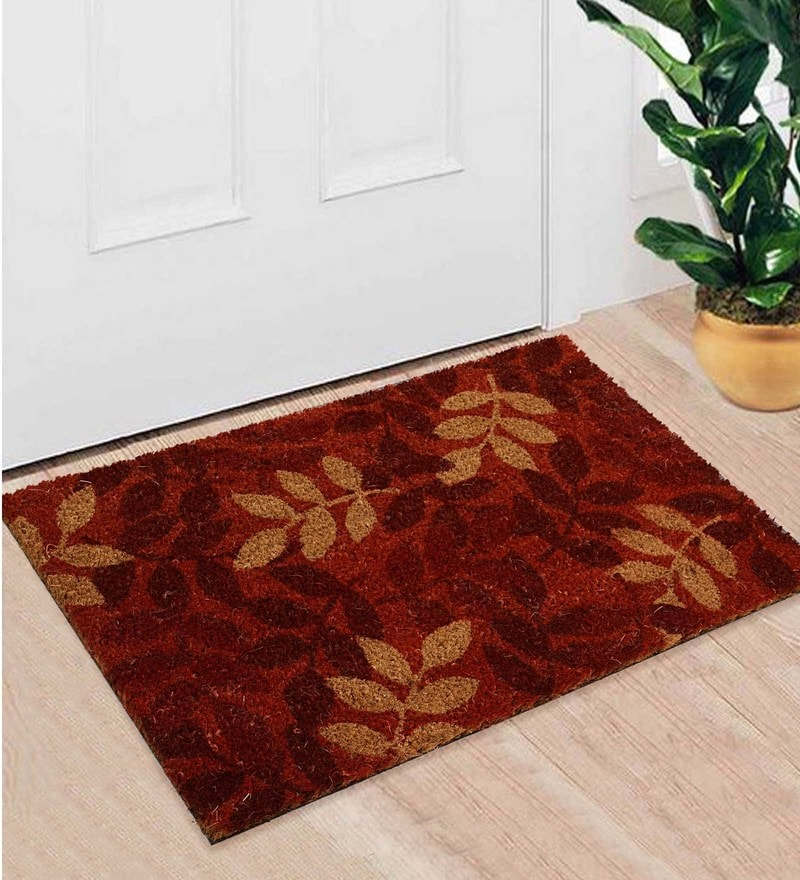 Red Coir 24 x 18 Inch Premium Quality Heavy Duty Door Mat by Saral Home