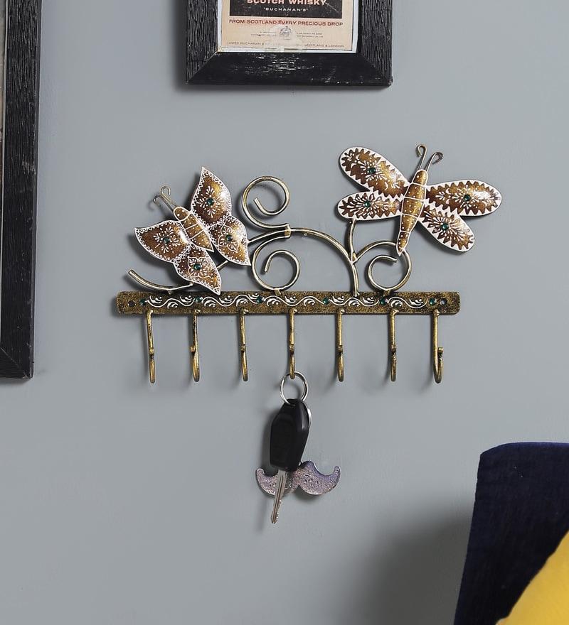 Multicolour Metal Painted Key Holder by Satyam International