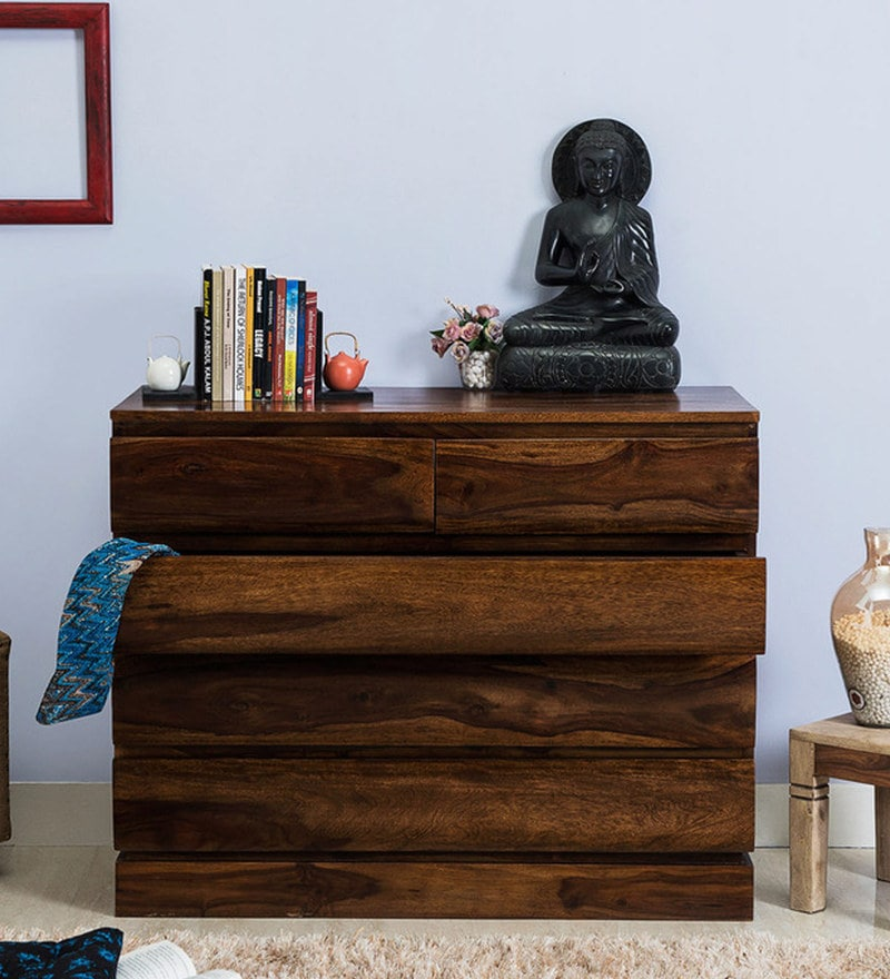 Savannah Chest of Five Drawers in Provincial Teak Finish by Woodsworth