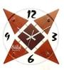 Brown MDF 12 x 12 Inch Star Wall Clock by Safal Quartz