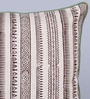 Beige & Brown Cotton 16 x 16 Inch Aradhaya Printed Cushion Cover by Sadyaska