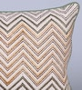 Sadyaska Beige & Mustard Cotton 12 x 18 Inch Vina Printed Cushion Cover
