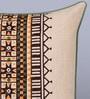 Sadyaska Beige Cotton 16 x 16 Inch Thug Printed Cushion Cover