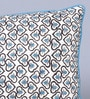 Sadyaska Blue Cotton 12 x 16 Inch Block Printed Cushion Cover