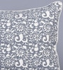 Grey Cotton 20 x 26 Inch Block Printed Cushion Cover by Sadyaska