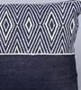 Indigo Denim 12 x 18 Inch Carolina Hand Block Printed Cushion Cover by Sadyaska