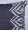 Indigo Denim 12 x 18 Inch Oregon Hand Block Printed Cushion Cover by Sadyaska