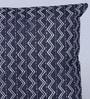 Indigo Denim 16 x 16 Inch Alabama Hand Block Printed Cushion Cover by Sadyaska