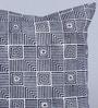 Indigo Denim 16 x 16 Inch Dakota Hand Block Printed Cushion Cover by Sadyaska
