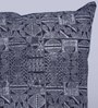 Indigo Denim 16 x 16 Inch Indiana Hand Block Printed Cushion Cover by Sadyaska