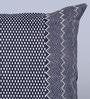 Indigo Denim 16 x 16 Inch Nebraska Hand Block Printed Cushion Cover by Sadyaska