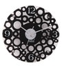 Black MDF 12 Inch Round Bubbly Bubbles Wall Clock by Safal Quartz