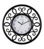 Safal Quartz Black MDF 16 Inch Round Curls in Curls Beauty Wall Clock