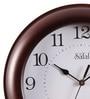 Brown MDF 10 Inch Wall Clock by Safal Quartz