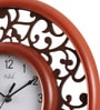 Brown MDF 12 Inch Royal Fantasy Round in Round View Wall Clock by Safal Quartz