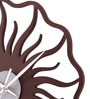 Safal Quartz Brown MDF 12 Inch Round Sun with Flames Wall Clock