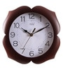 Brown MDF 9 Inch Round Lotus Look Kitchen Beauty Wall Clock by Safal Quartz
