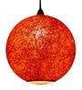 Salebrations Orange Yarn Pendant