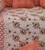 Orange Satin Diwan Set - Set of 6 by Salona Bichona
