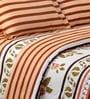 Salona Bichona White & Green Floral Bed Sheet Set