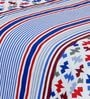 Salona Bichona Blue Stripes Single Bed Sheet Set