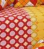 Salona Bichona Yellow Cotton Checkered Diwan Set - Set of 8