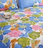 Blue Poly Cotton Queen Size Bedsheet - Set of 3 by Salona Bichona